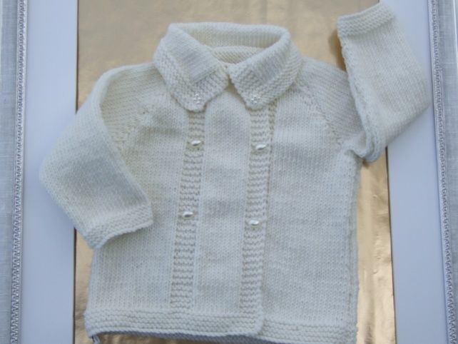 White Hand Made Coat For Babies Baby Coat Washing Dryer And