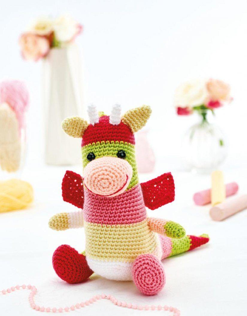 Crochet dragon toy | lana | Pinterest