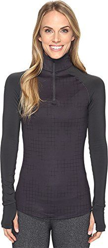adidas Womens Techfit Cold Weather 12 Zip Utility Black Print Shirt *** Want to know more, click on the image.Note:It is affiliate link to Amazon.