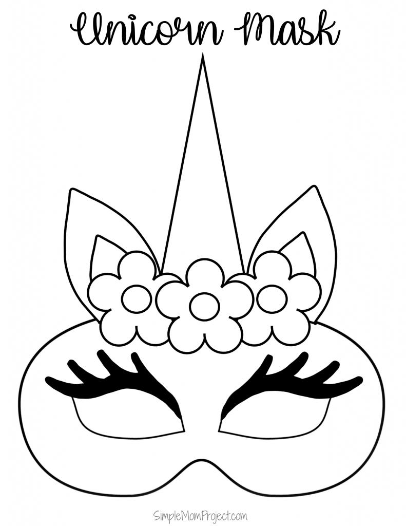 Unicorn Face Masks with FREE Printable Templates | Unicorn ...