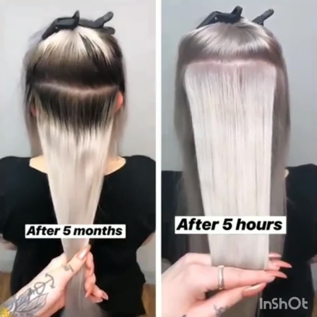 Before After Transformation Snow White Blonde Platinum Balayage