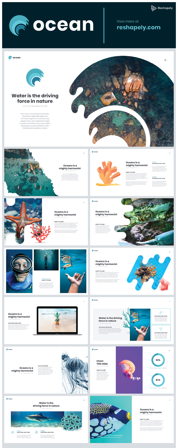 Ocean Powerpoint Template Part 2