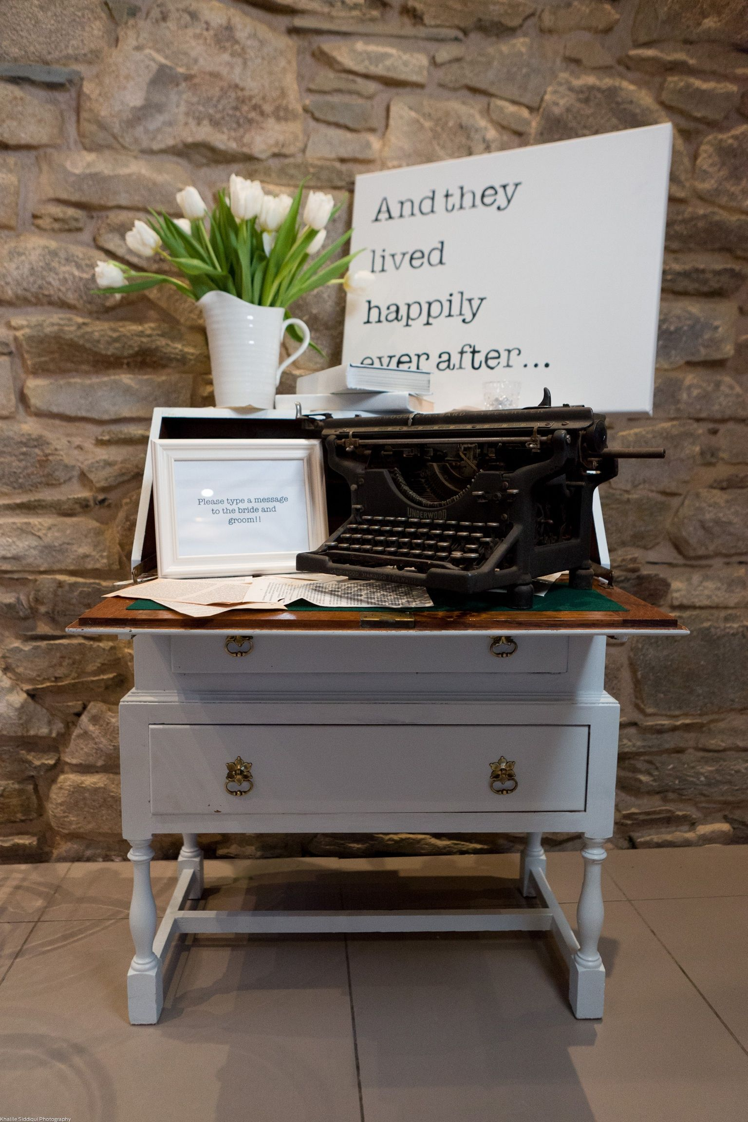 Typewriter Guest Book Not The Actual One You Saw