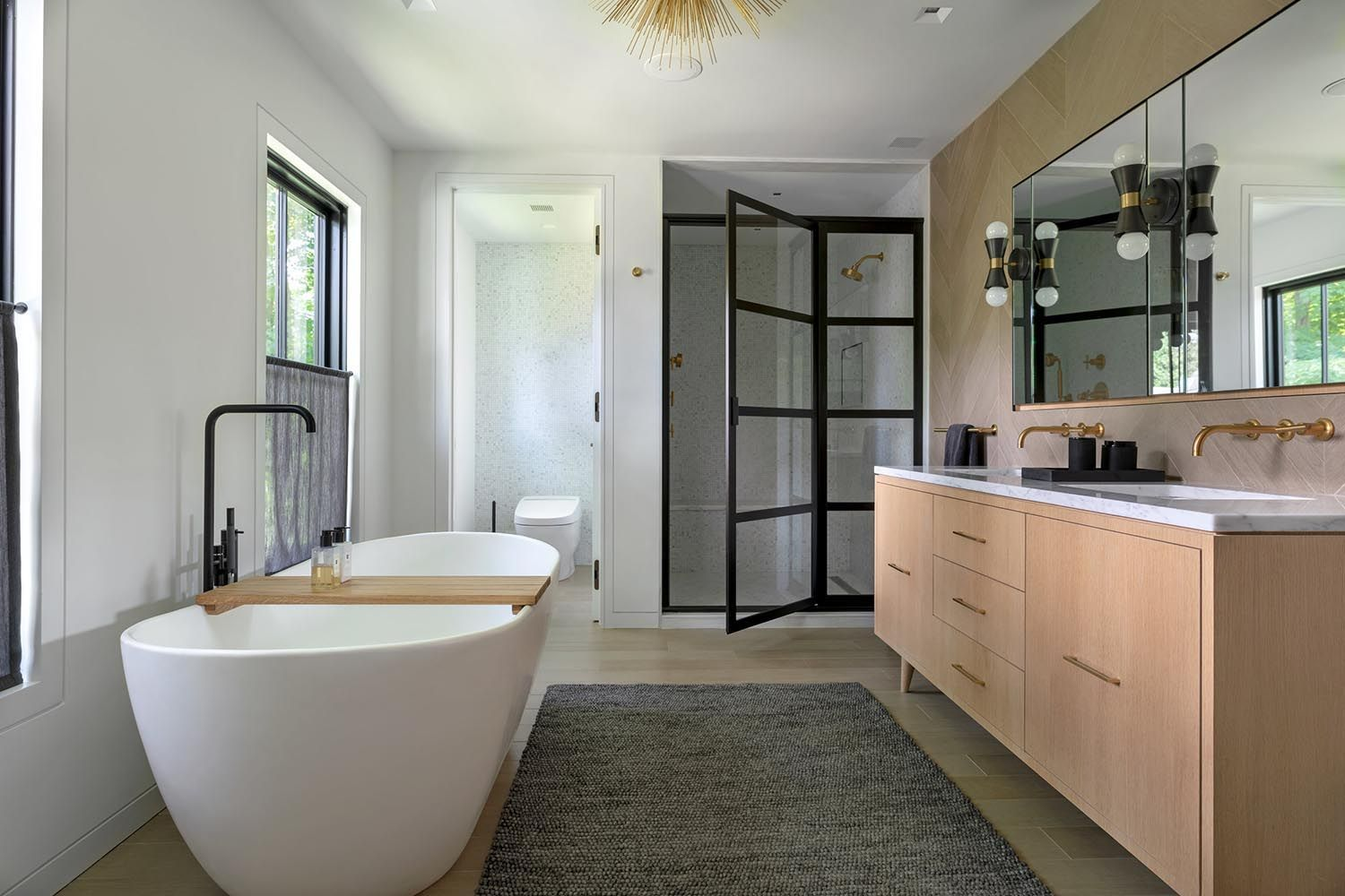 Farmhouse Modern Home Gets Inspiring Makeover In Upstate New York In 2020 Bathrooms Remodel Modern Farmhouse Modern House