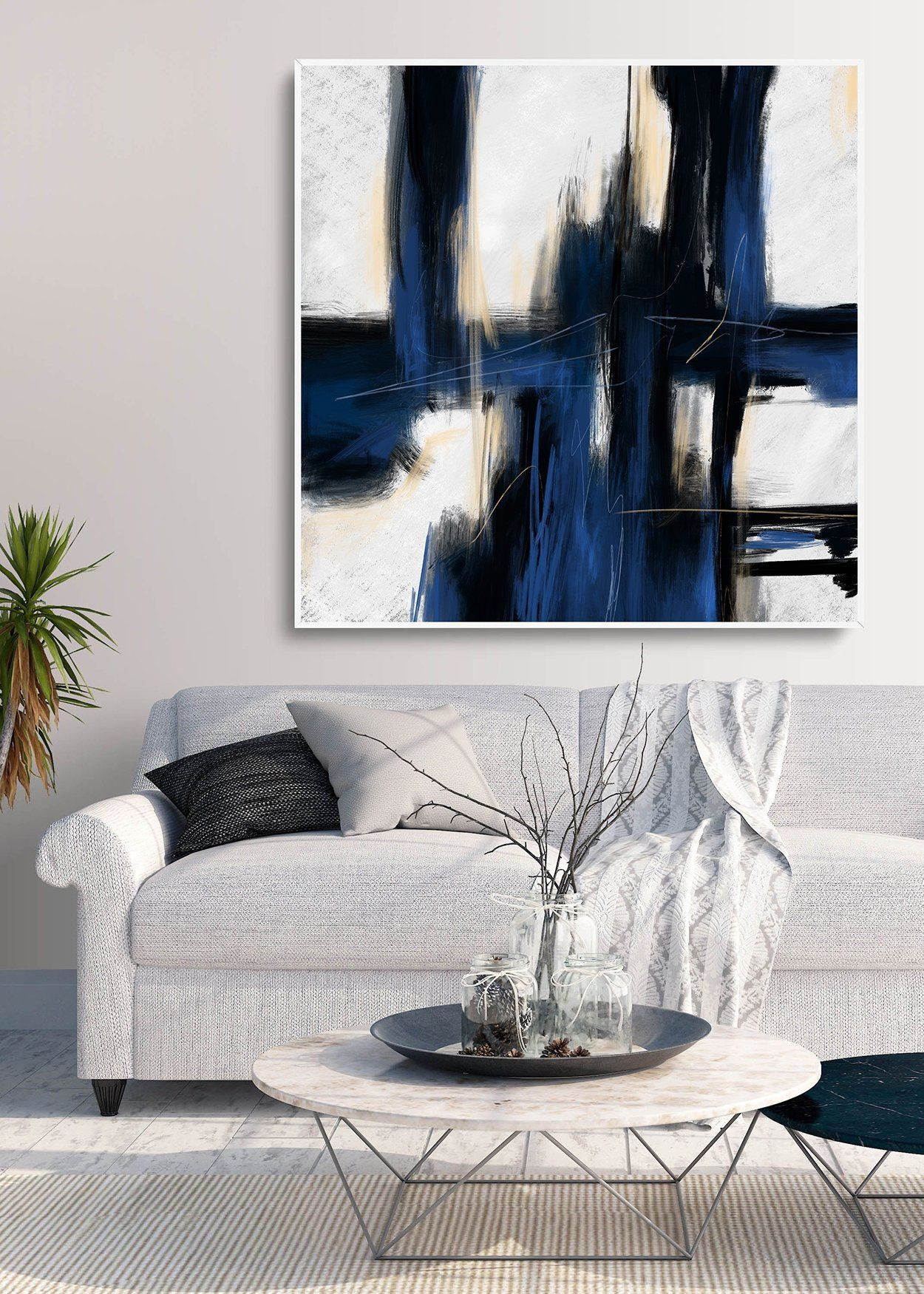 Abstract Paintinglarge Wall Artpaintings On Canvasextra Etsy