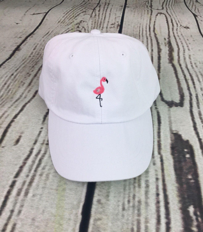 Flamingo Baseball Hat Pigment Dyed Hat Beach Hat Nautical Hat Spring Break Hat Monogrammed Hat Flamingo Hat Bone Feminino Acessorios Buckets Chapeu