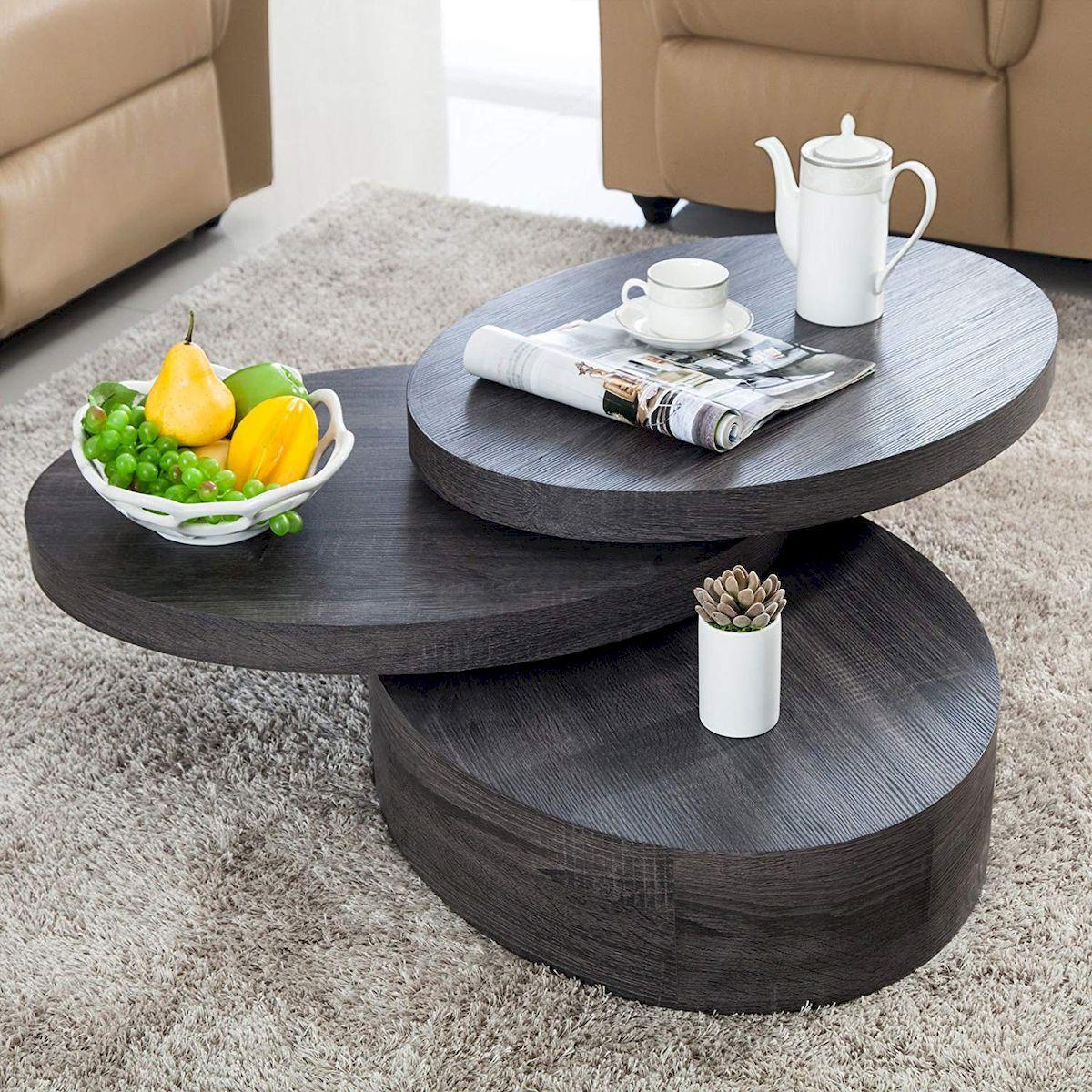 modern black coffee table round