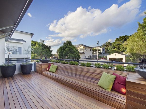 Built In Landscaped Seating Built In Garden Seating Terrace Garden Design Deck Seating Area