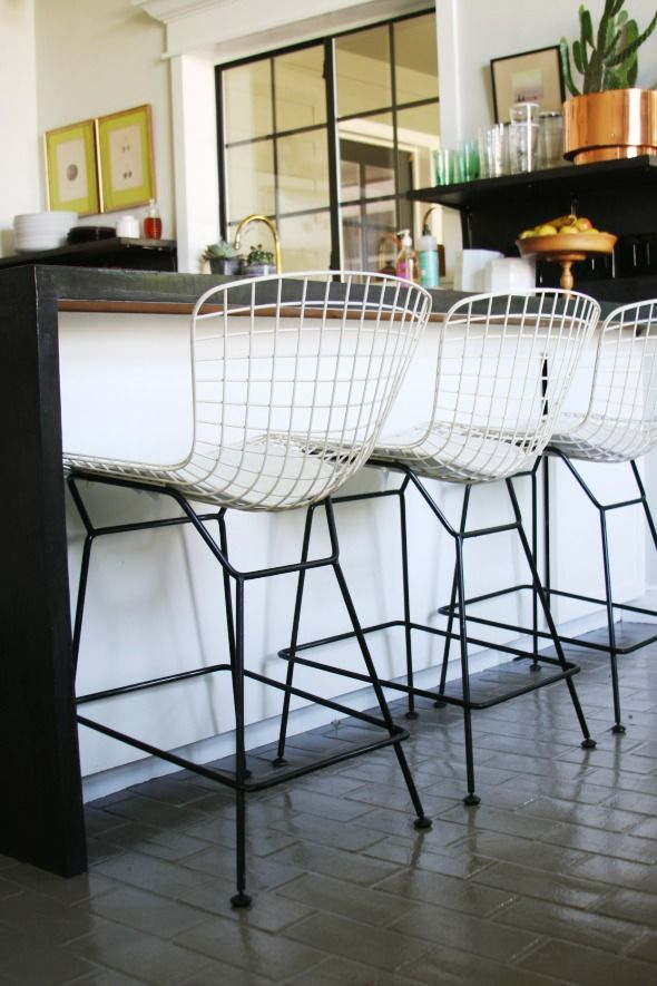 Superb The Mostly Done Kitchen Bars For Home Wire Bar Stools Frankydiablos Diy Chair Ideas Frankydiabloscom