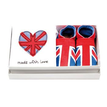 Inch Blue 'Made with Love' Union Jack Gift Set