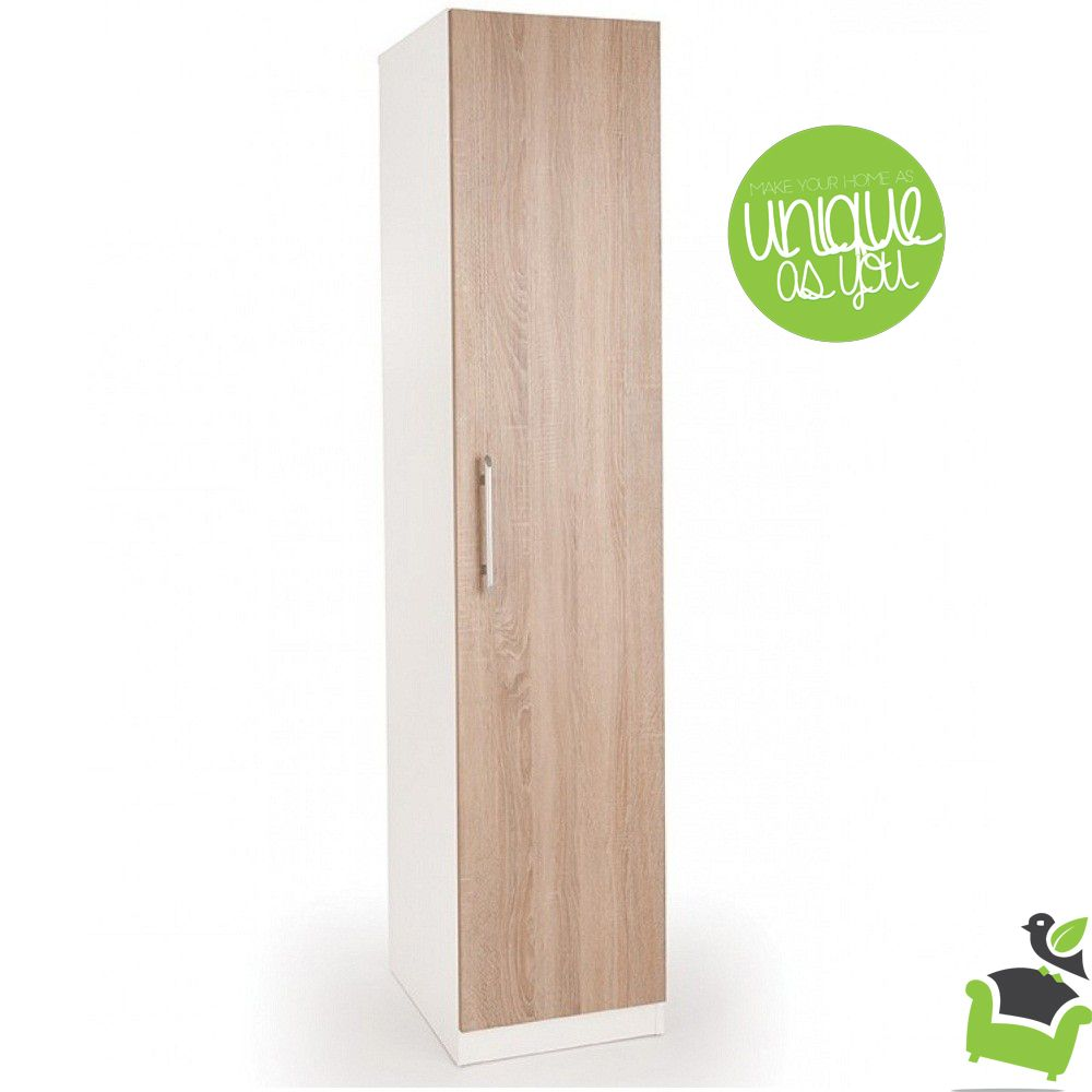 Connect Euston 1 Door Wardrobe Oak Bedroom Wardrobes Room Door Design Tall Cabinet Storage Doors