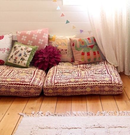 Bohemian Floor Cushion Sofa