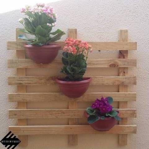 Deixe Sua Casa Mais Linda Jardim Vertical Com Paletes Ideias