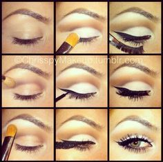 Step by Step to More Defined Looking Eye Makeup with White Eyeshadow...