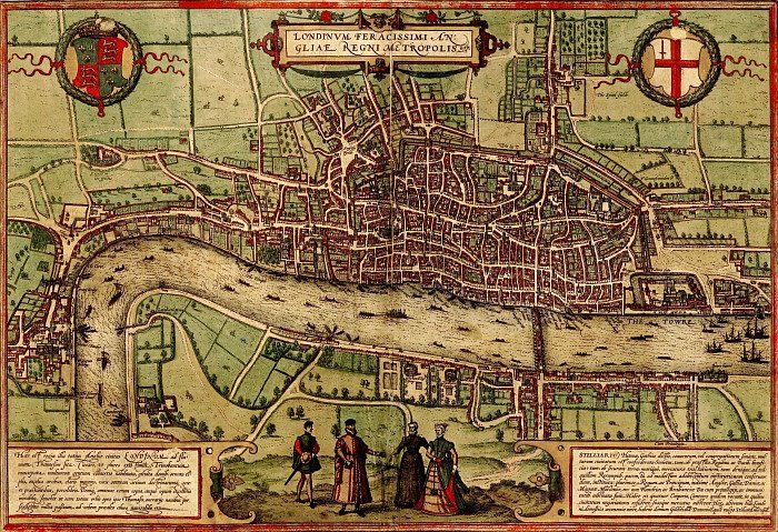 Map Of London 1600.Pin By Marque Marquetodd Com On Antique Illustration Animals
