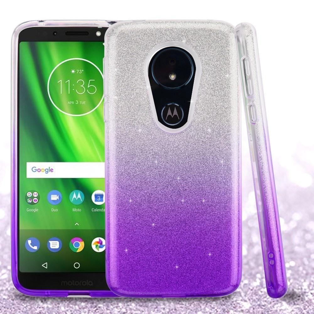 Glitter Hybrid Motorola Moto G6 Play Forge Case Purple Gradient Fondos De Pantalla Calendas Pantalla