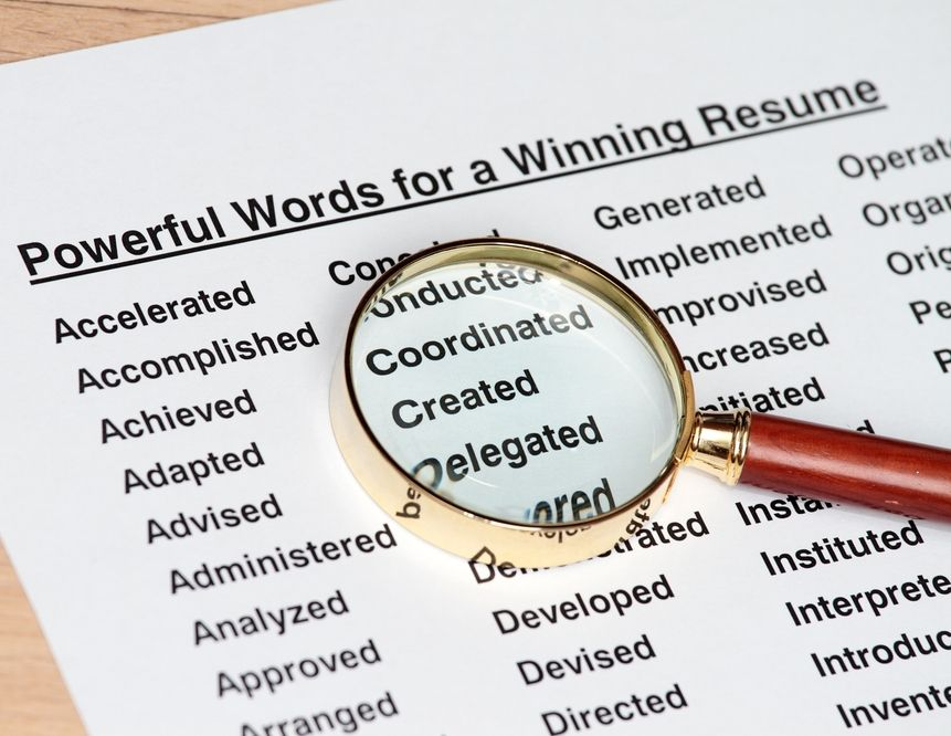 100 most powerful resume words - verbs! - High School - power words resume