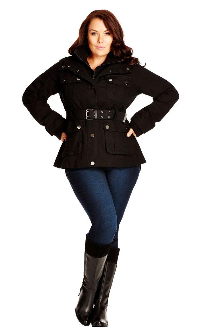 147c7c82ebd City Chic Rib Trim Utility Jacket - Women s Plus Size Fashion City Chic - City  Chic Your Leading Plus Size Fashion Destination  citychic  citychiconline  ...