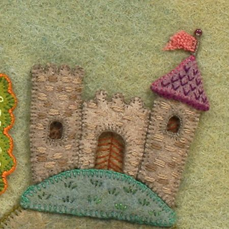 salley mavor fiber art castle