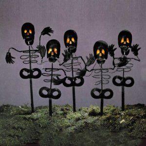 Amazon.com - Set of 5 Black Spooky Skeleton Halloween Lawn Yard Stakes - Orange Lights - Seasonal Celebration Lighting www.amazon.com300 × 300Search by image Set of 5 Black Spooky Skeleton Halloween Lawn Yard Stakes - Orange Lights