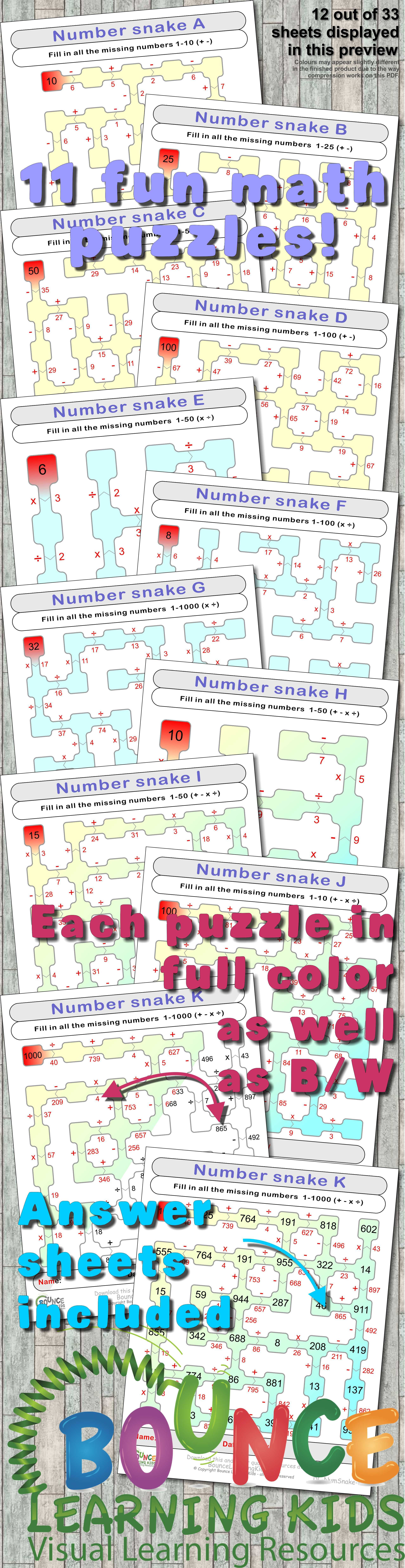 Number Snake By Bouncelearningkids