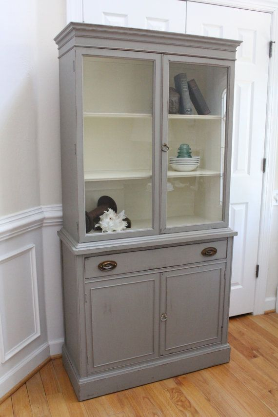 Vintage China Cabinet - Annie Sloan Chalk Paint - French Linen ...