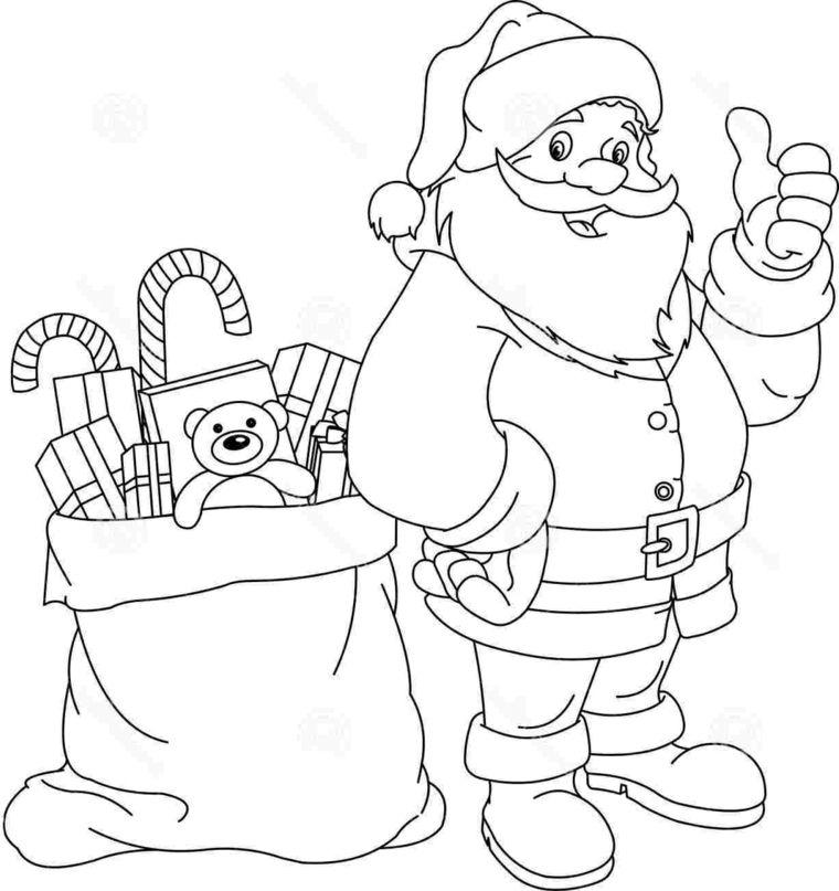 Bambini Babbo Natale Disegno.Disegni Natale Per Bambini Un Sorridente Santa Claus Con Un Grande Sacco Pieno Di Regali Babbo Natale Natale Progetti Di Lavoretti Per Bambini