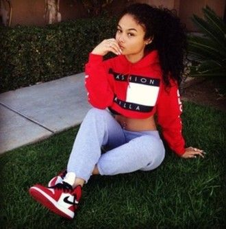 jacket shoes blouse sweater cropped sweater fashion killa red white black  red sweatshirt shirt tommy hilfiger