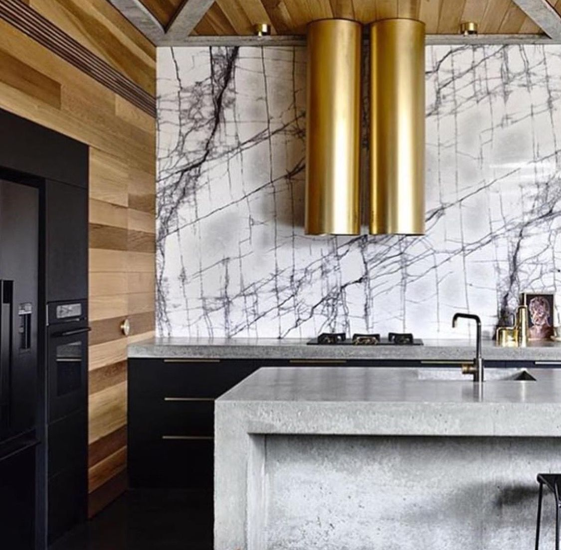 New York Marble Concrete kitchen, Concrete house