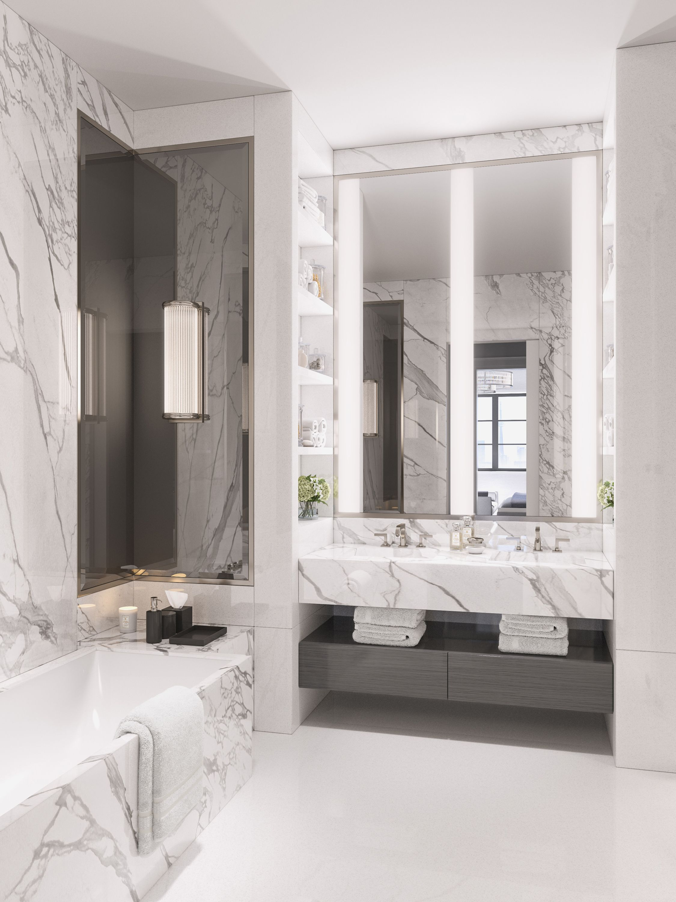 Elicyon Designed The Concept For This Five Bedroom Duplex Apartment Set In A Class In 2020 Modern Luxury Bathroom Luxury Bathroom Master Baths Bathroom Interior Design