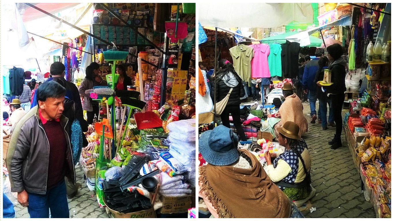 Mercados en Bolivia, fotos de una mochilera común en diciembre de 2015.