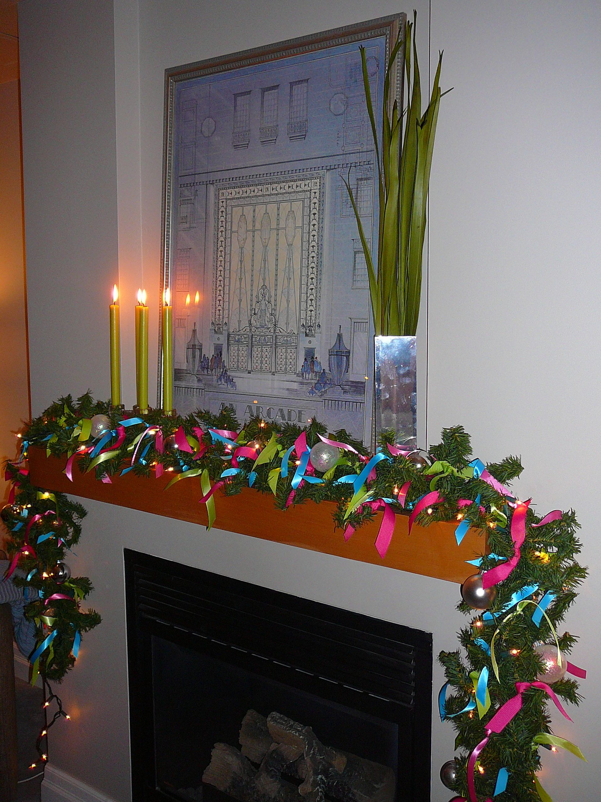 Holiday decorations all tied up ribbon garland garlands and