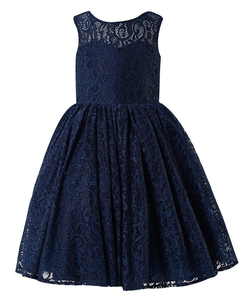 96ecca1ac Princhar Lace V Back Flower Girl Dress Girls Juniors For Wedding ...