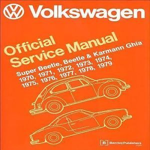 Volkswagen Super Beetle Beetle And Karmann Ghia Service Manual Hard Cover New Karmann Ghia Volkswagen Beetle