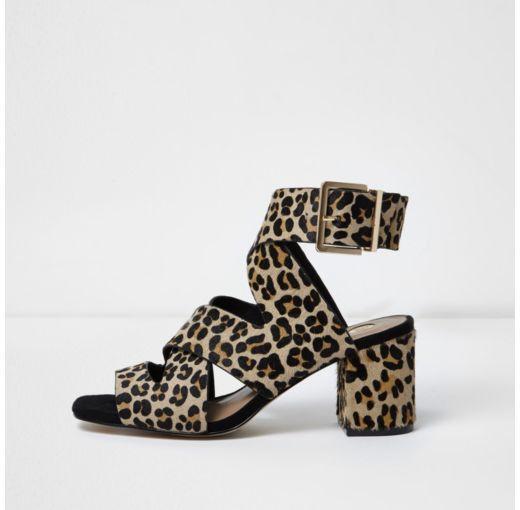 river island leopard print heels
