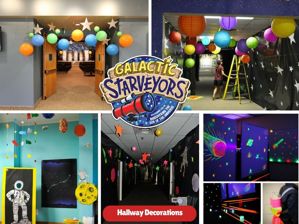 Lifeway vbs 2017 galactic starveyors hallway decorations for Decorated bible