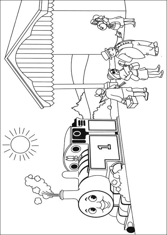coloring page Thomas the Train - Thomas the Train | Great for the ...