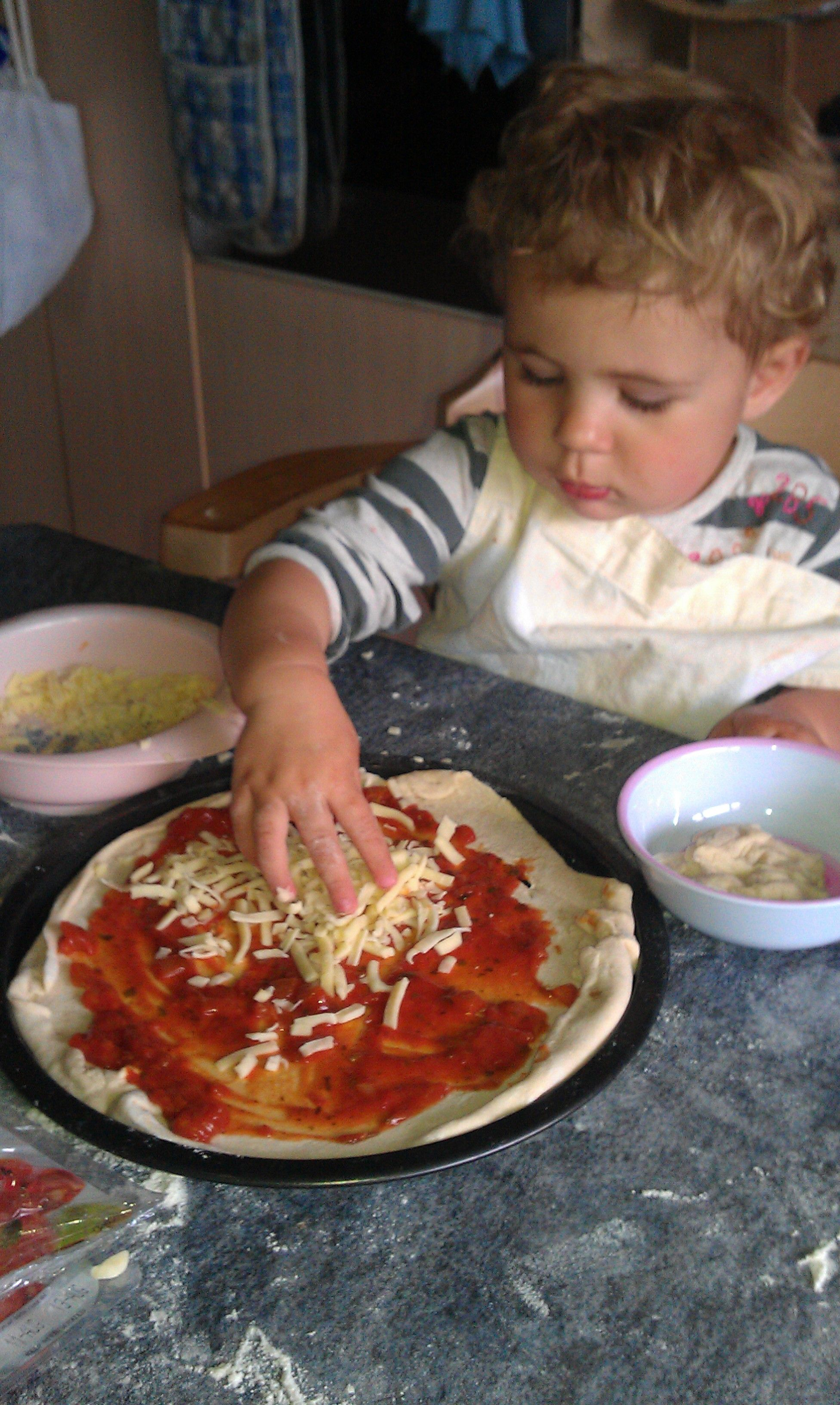 Easy Toddler Pizza Making