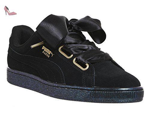 puma suede heart satin ii sneakers basses femme