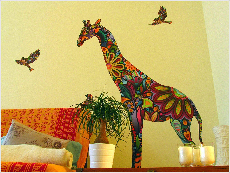 My Wonderful Walls Giant Giraffe Wall Sticker Decal, Peel and Stick ...
