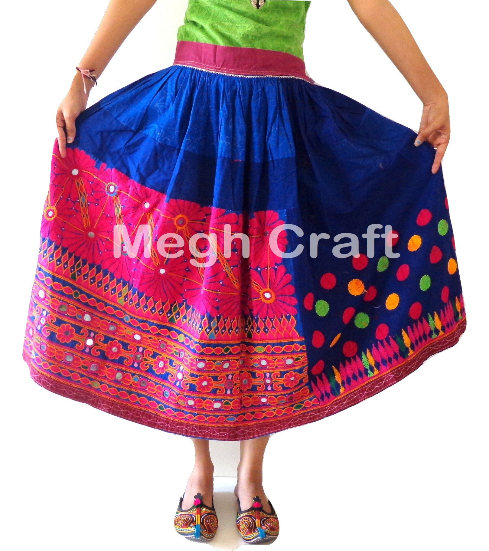 6f6e64a1ff Gujarat handicraft-Banjara skirt-gypsy-bohemian-tribal-Ghagra Vintage Red Rabari  Long Embroidered Skirt. Tribal Hand Embroidered skirts