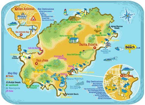 Infographic Ibiza Cala Urlaub Und Spanien