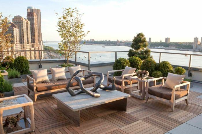 ▷ 1001 + Ideen für eine moderne Terrasse und zehn letzte Trends - moderne skulpturen wohnzimmer
