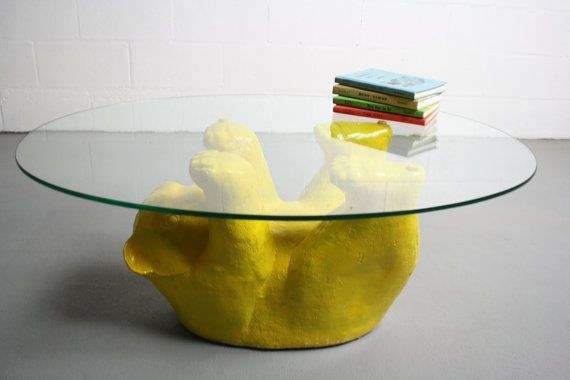 Vintage 70 S Little Bear Coffee Table By Lane W Oval By Abtmodern