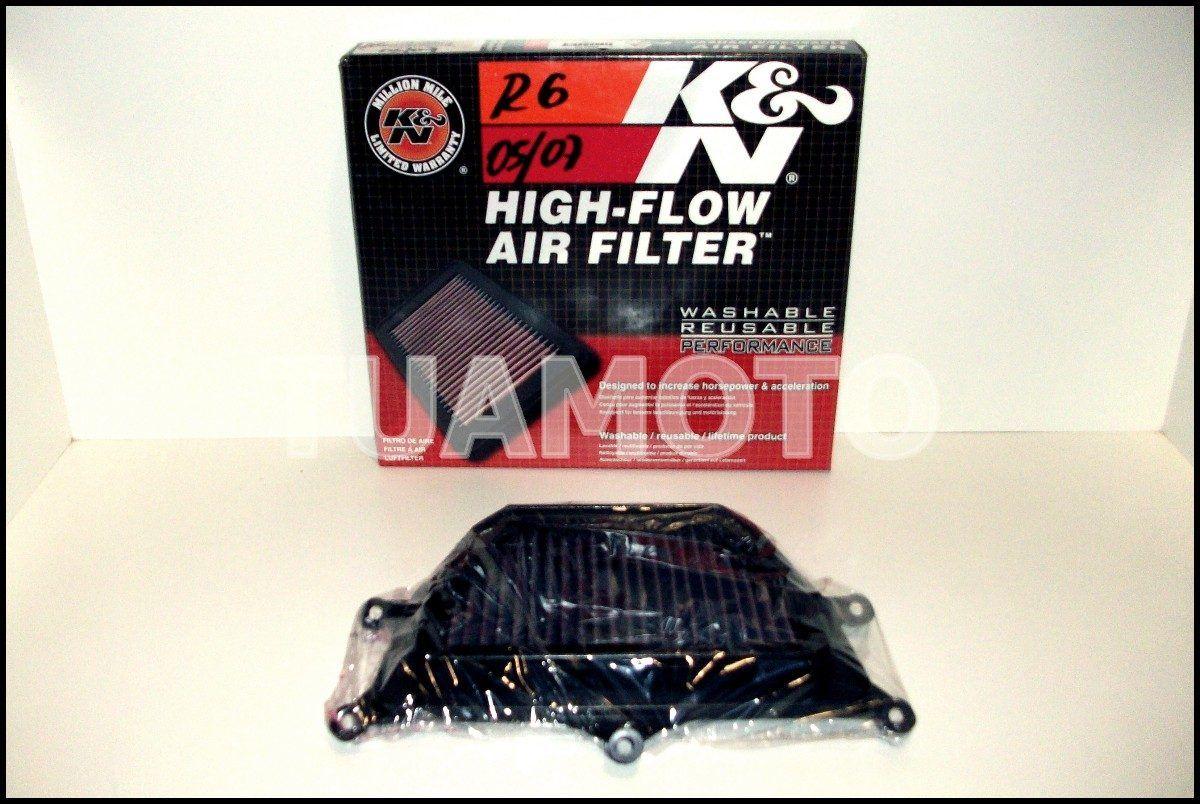 (4) Filtro De Aire K&n Para Yamaha R6 2005 Al 2007 Tuamoto