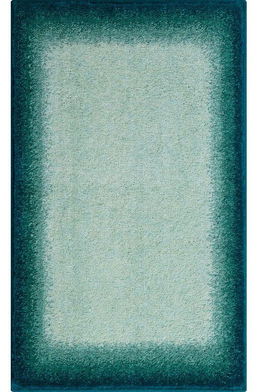 Der Ausgefallene Badteppich Avalon Mit Einer Farbschattierung Von Grüntönen  Ist Aus Weichen Polyacryl. Der Teppich