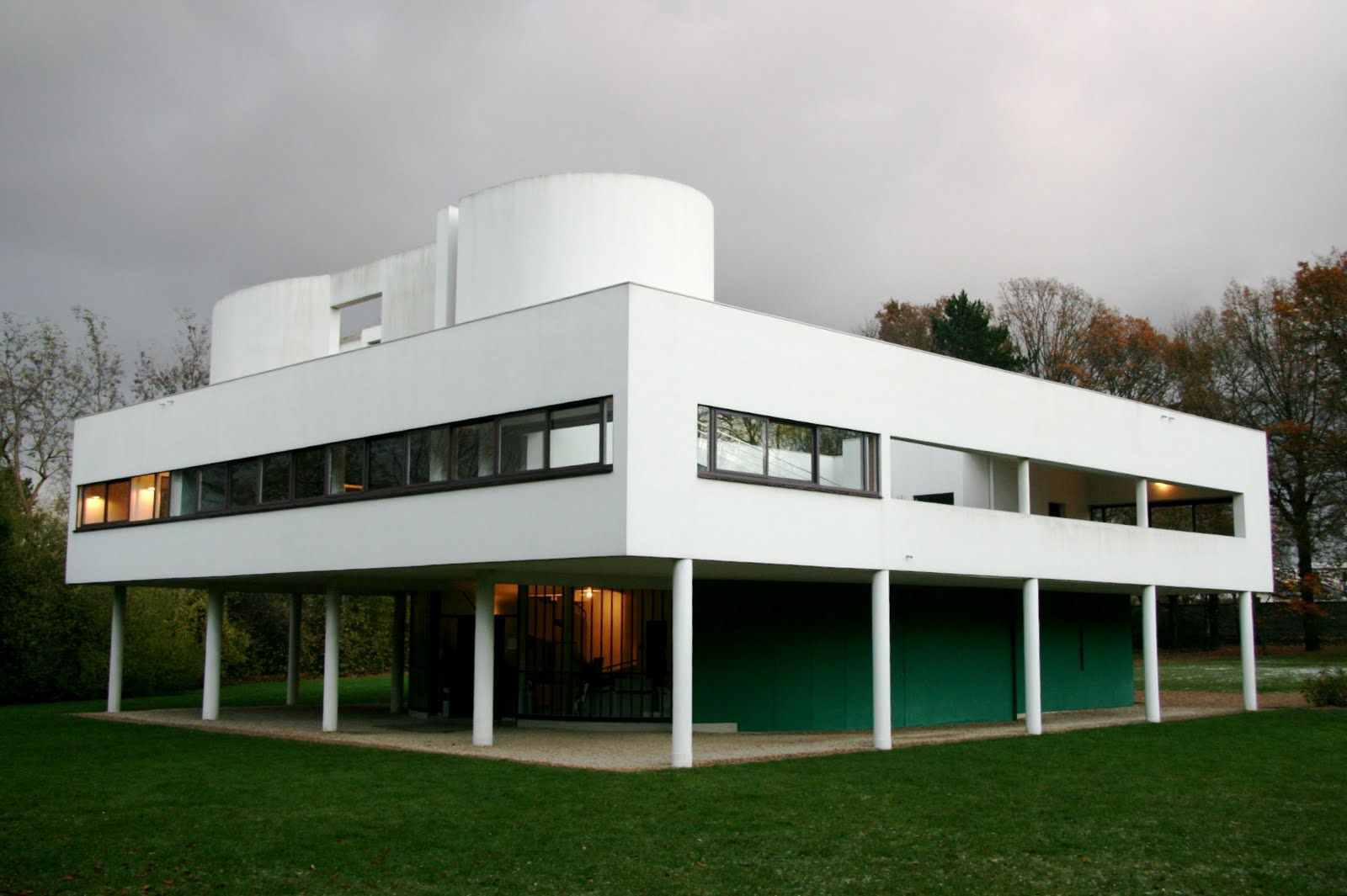 France villa savoye poissy 1929 le corbusier 1920 for Poissy le corbusier