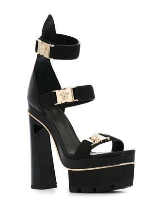 d3aad7faf491 Versace  Medusa Tri-Strap  Platform Black Sandals   Only Me  💋💚💟💖✌✓👌💙💚 xoxo
