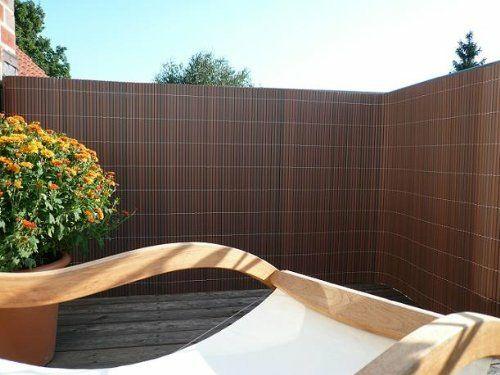 Balkon Sichtschutz Aus Bambus - Praktische Und Originelle Idee ... Balkon Sichtschutz Aus Holz