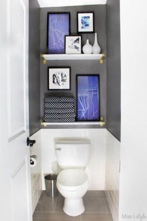 One room challenge graphic glam master bathroom reveal for Toilet room decor